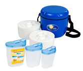 Little Swan Lunch Box with Polo Storage Set(Pack of 4)