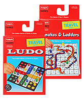 Funskool Travel Luddo With Snakes And Ladders