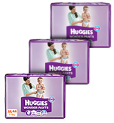 Huggies - Wonder Pants, M, (7 -12 Kg), 44 Pieces (Pack Of 3)