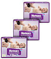 Huggies - Wonder Pants, S (4 - 8 Kg), 48 Pieces (Combo Pack Of 3)
