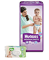 Huggies Wonder Pants Extra Large - 32 Pieces with Huggies Thick Baby Wipes Imported - 80 Pieces	 - Pack of 2