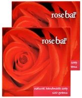 Natural Bath & Body Bathing Bar - Rose (Pack Of 2)