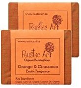 Rustic Art Orange & Cinnamon Oragnic Bathing Soap (Pack Of 2)