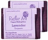 Rustic Art Lavender Organic Bathing Soap (Pack Of 2)