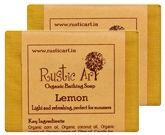 Rustic Art Lemon Organic Bathing Soap (Pack Of 2)