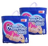 Mamy Poko Pants - Pant Style Diapers Size S(68), 4 - 8 kg (Combo Pack of 2)