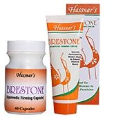 Hassnar Brestone Ayurvedic Firming Capsules and Cream (Combo Pack of 2)