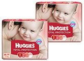 Huggies Total Protection M (5 - 11 Kg), 58 Pieces (Combo Pack of 2)