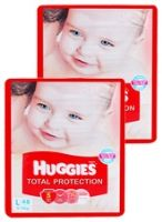 Huggies Total Protection L (8 - 14 Kg), 48 Pieces (Combo Pack of 2)