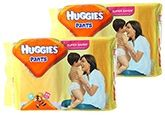 Huggies Pants M (5-11kg), 44 Pants (Combo Pack of 2)