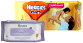 Huggies - Pants L (8-14 kg), 38 Pants with Himalaya Wipes Combo (Set of 2)
