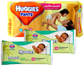 Huggies - Pants L (8-14 kg), 38 Pants with 2 Huggies - Baby Wipes 30 pcs combo (Set of 3)