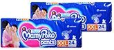 Mamy Poko Pants Pant Style Diapers XXL (15 - 25 Kg), 24 Pieces (Combo Pack of 2)
