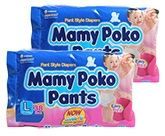 Mamy Poko Pants L (9 -14 Kg), 38 Pieces (Combo Pack of 2)