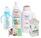 Baby Powder & Soaps with Cleansing Solutions Combo (Set of 5)