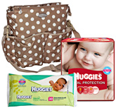 Diaper Bag with Diaper and Wipes (Set of 3)