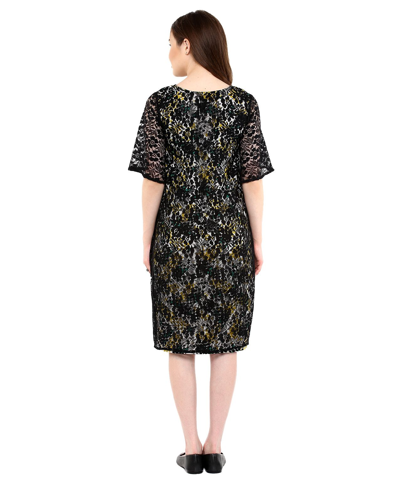 Mine4Nine Half Sleeves Maternity Dress