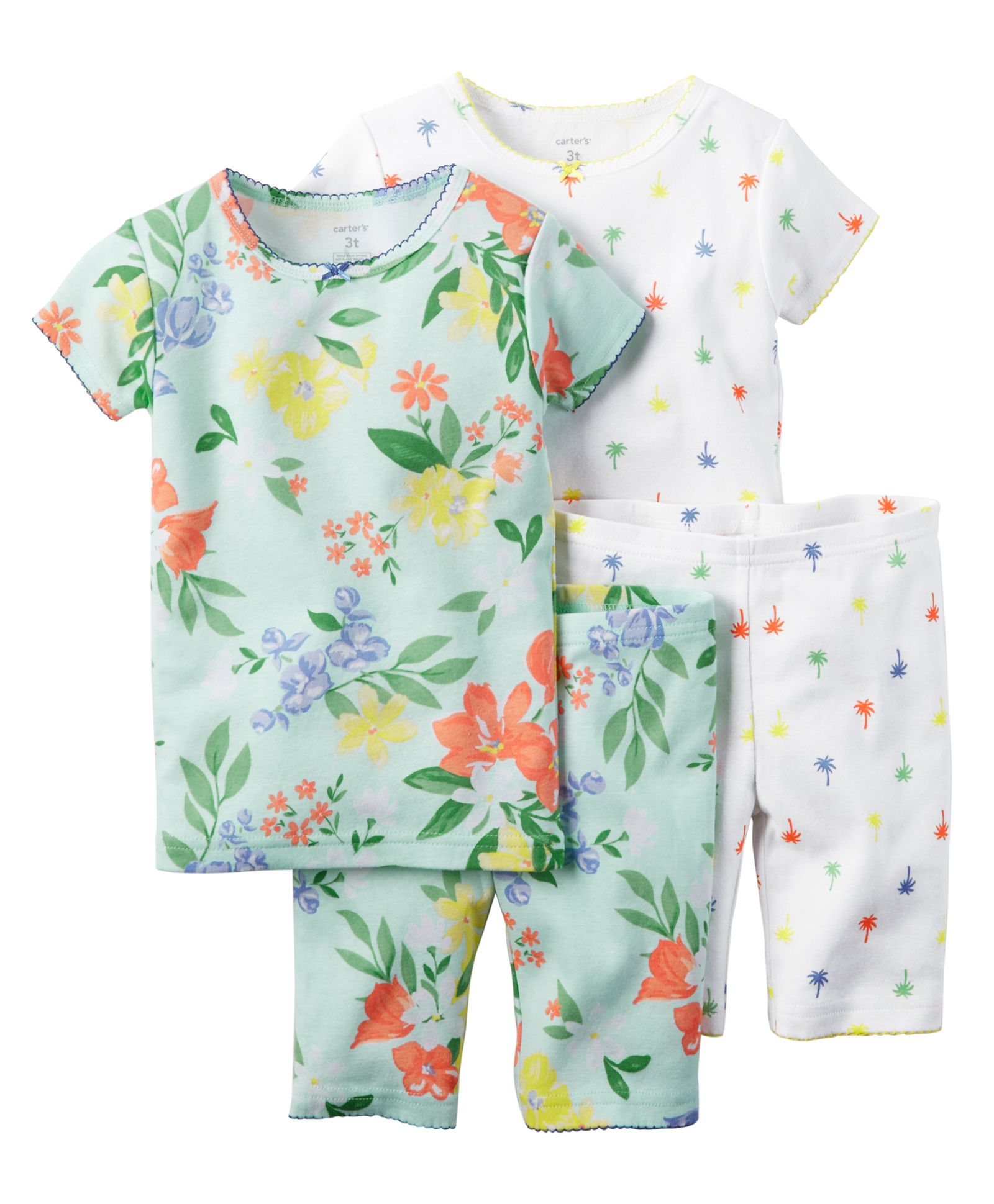 Upto 50% Off Carter's Seasonal Shades By Firstcry | Carter's 4-Piece Snug Fit Cotton PJs @ Rs.1,187.46