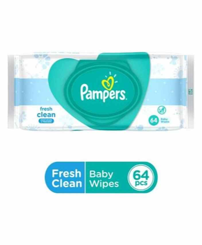 Flat 29% Off On Pampers Fresh Clean Baby Wipes - 64 Pieces By Firstcry @ Rs.131.35