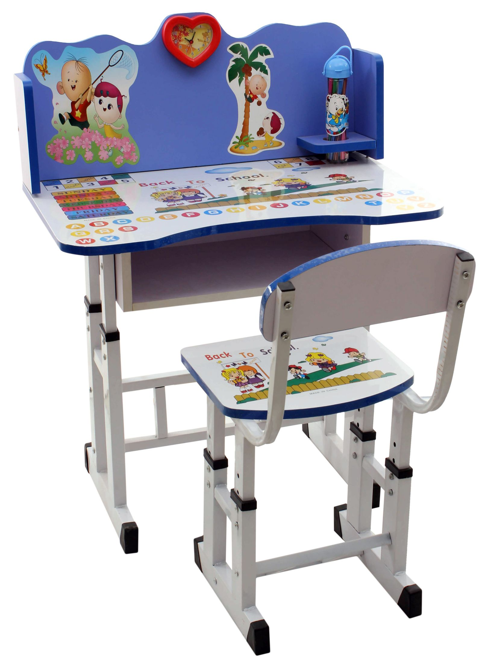 Study Table Chair Set : Fab N Funky Study Table With Chair Set Blue Online in India, Buy at ...
