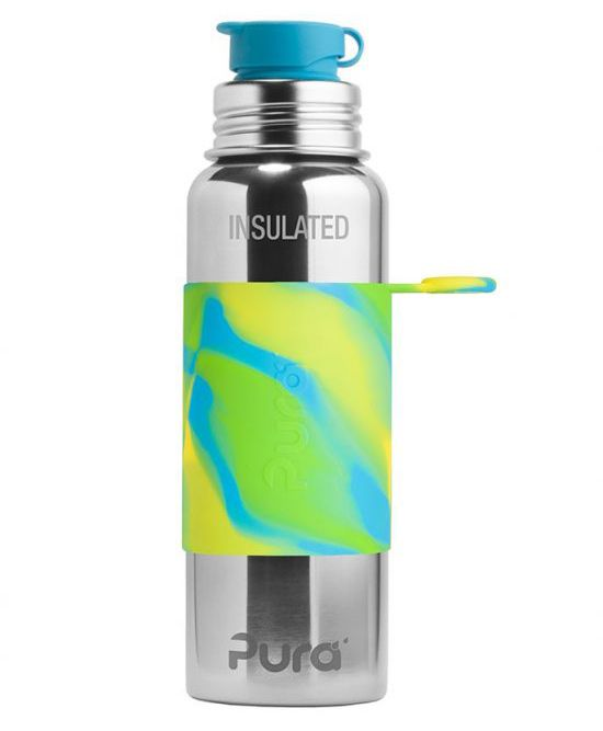 Pura Insulated Stainless Steel Sports Bottle Blue - 650 ml