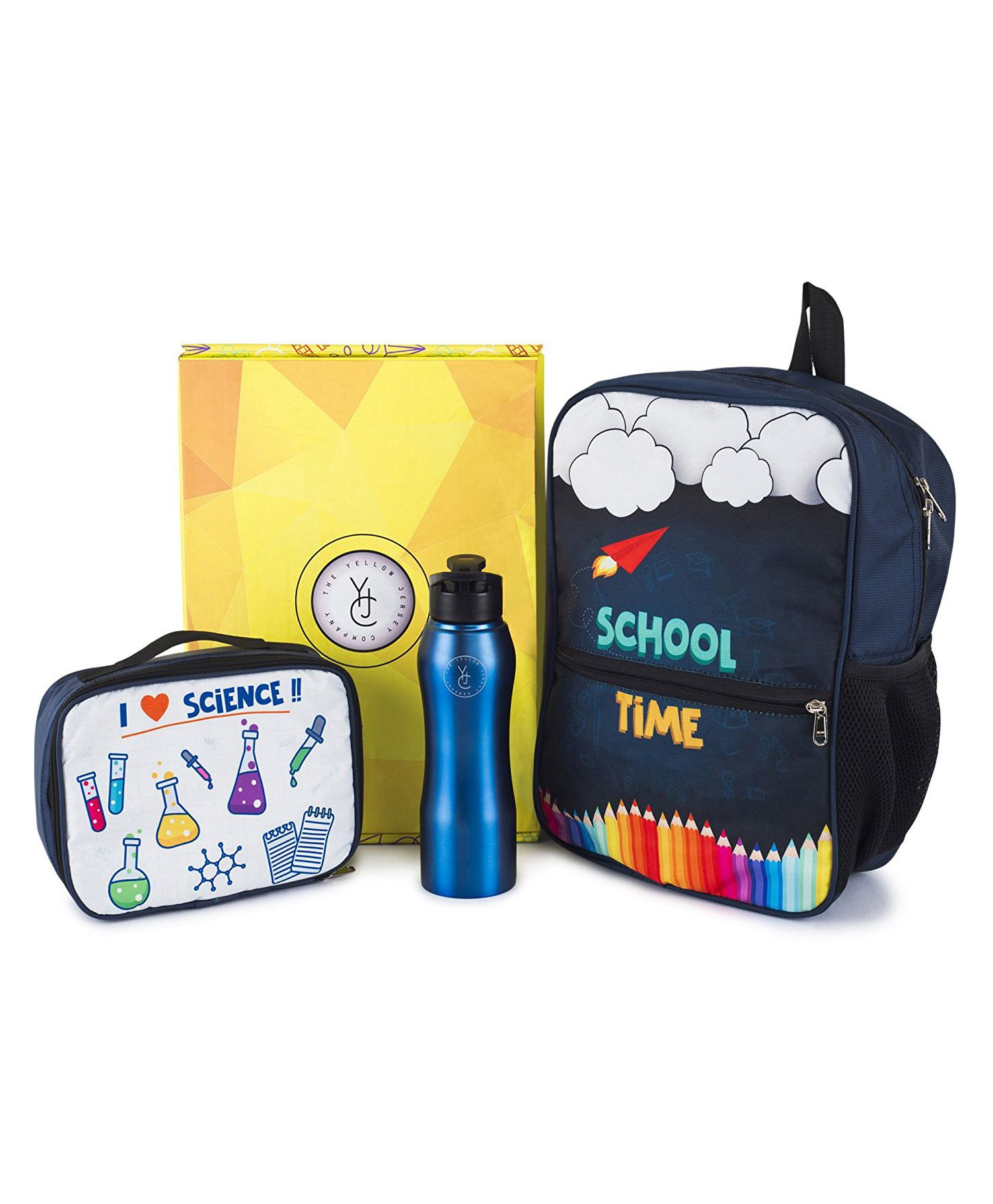 The Yellow Jersey Company School Kit of 3 Scientist Theme - Navy Blue