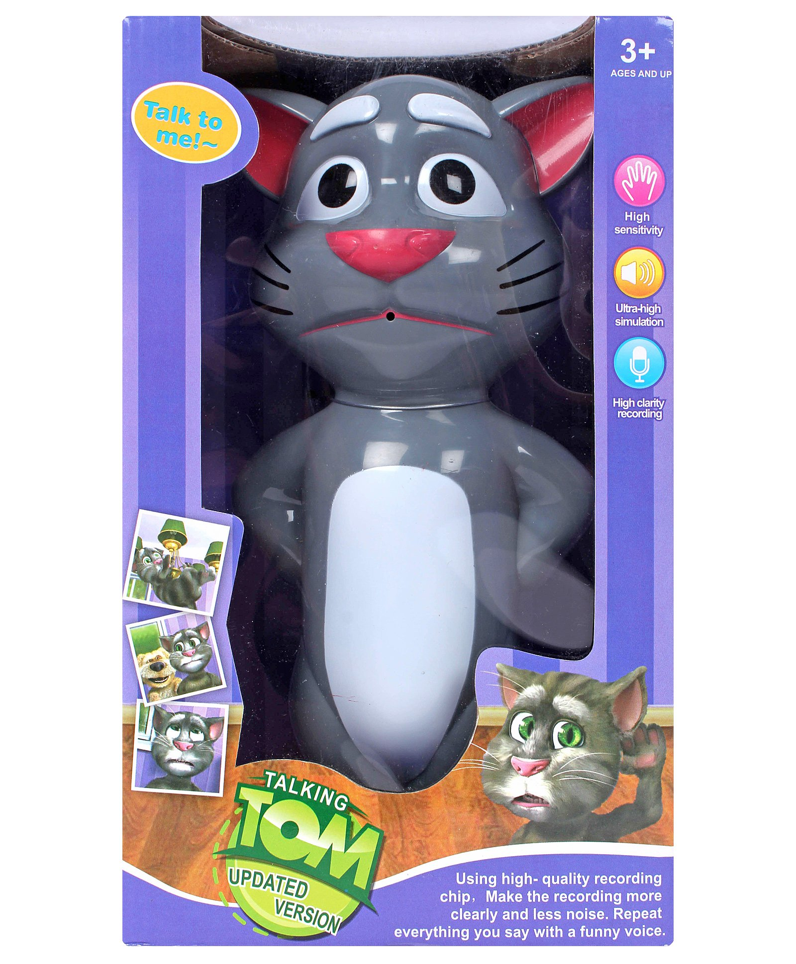Fab N Funky Grey Talking Tom Talk To Me