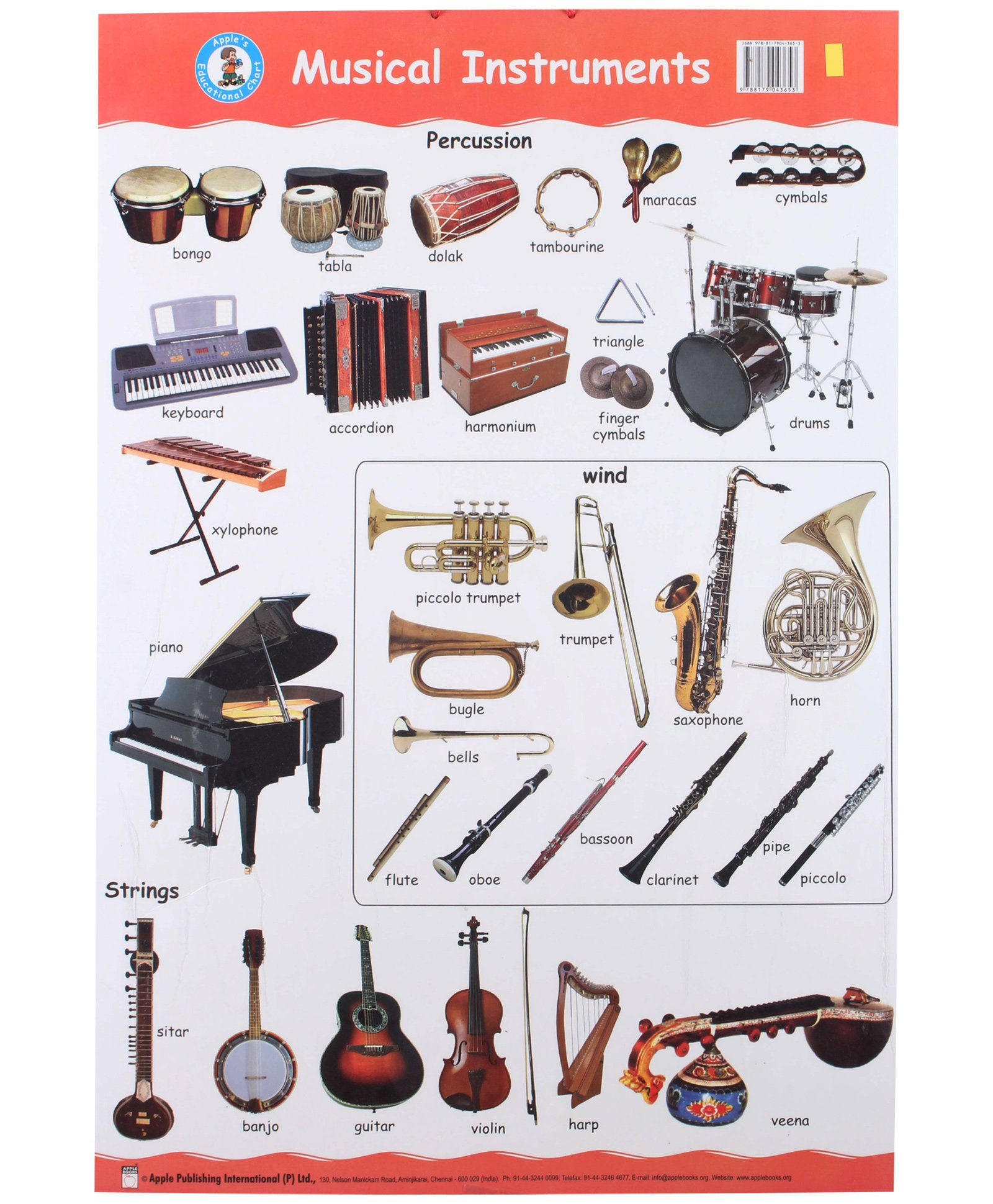 Musical Instruments With Names | New Calendar Template Site