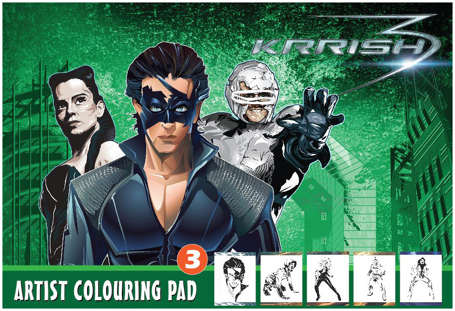 Krrish 3 Colouring Pages Kid Page