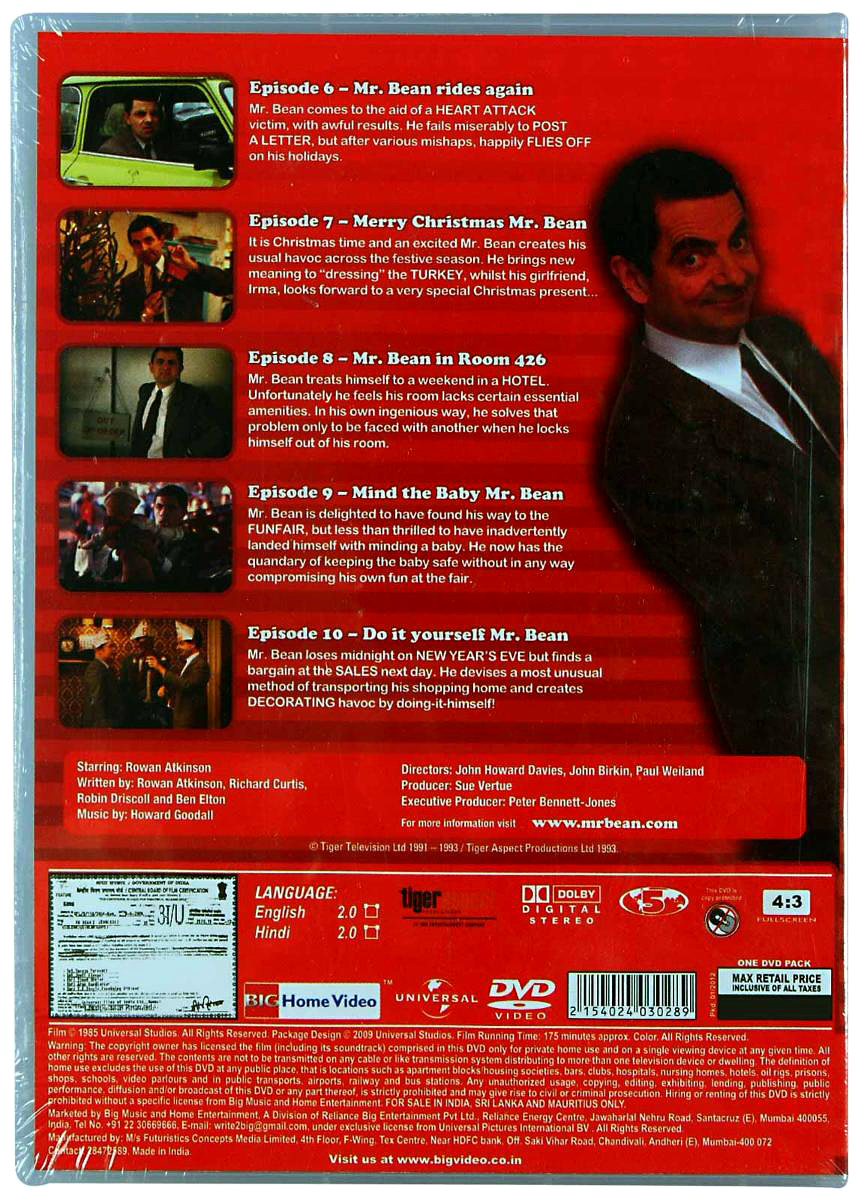 Reliance big home videos mr bean live action volume 2 dvd english reliance big home videos mr bean live action volume 2 dvd english firstcry solutioingenieria Image collections