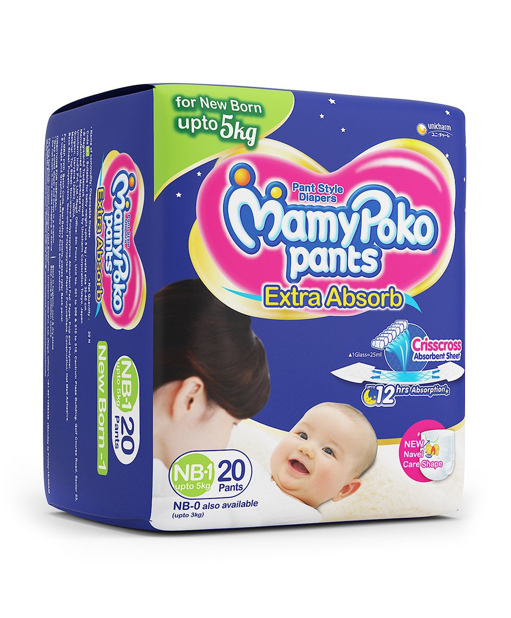 Flat 50% Off on Diapers, Nappies & Wipes By Firstcry | Mamy Poko Pant Style Diapers Extra Small - 20 Pieces @ Rs.175.50