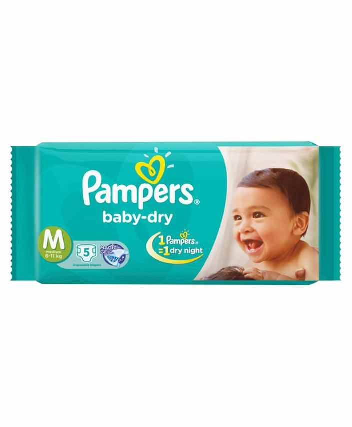 Pampers Baby Dry Diaper Medium - 5 Pieces