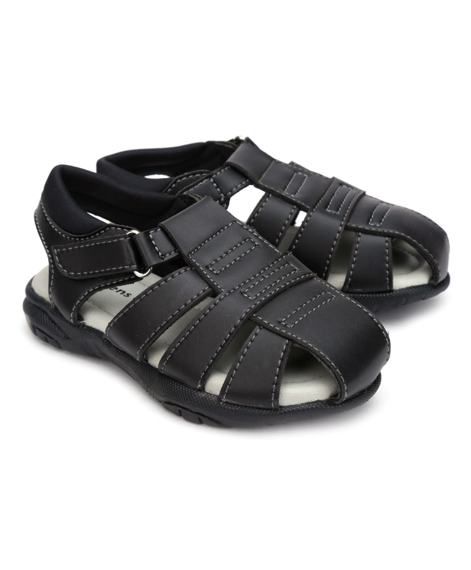 Big Fun For Little Feet!! Min 40-70% Off On Kids Footwear By Firstcry | Kittens Casual Sandals Velcro Closure - Black @ Rs.501.20