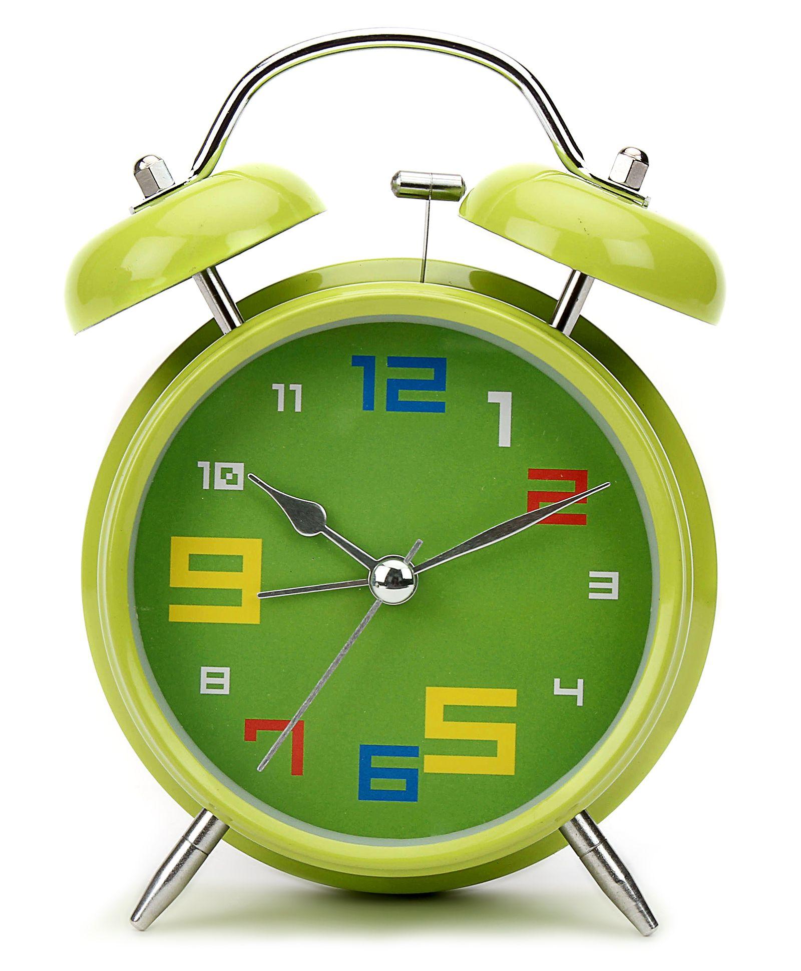 Compare Kids Alarm Clock Round Shape Green Price Online