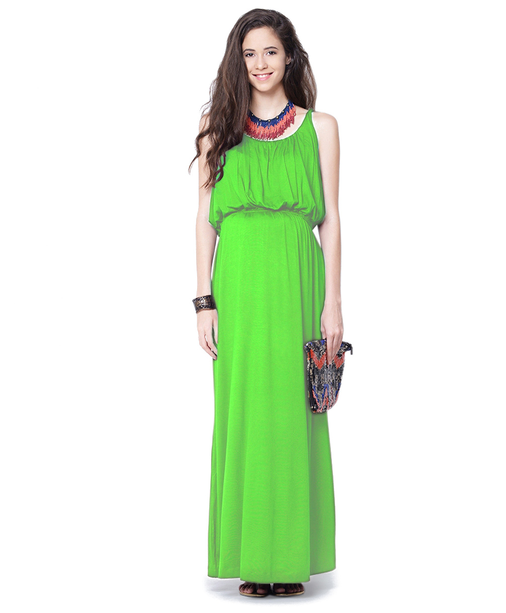 Mamacouture Green Maxi Maternity Dress
