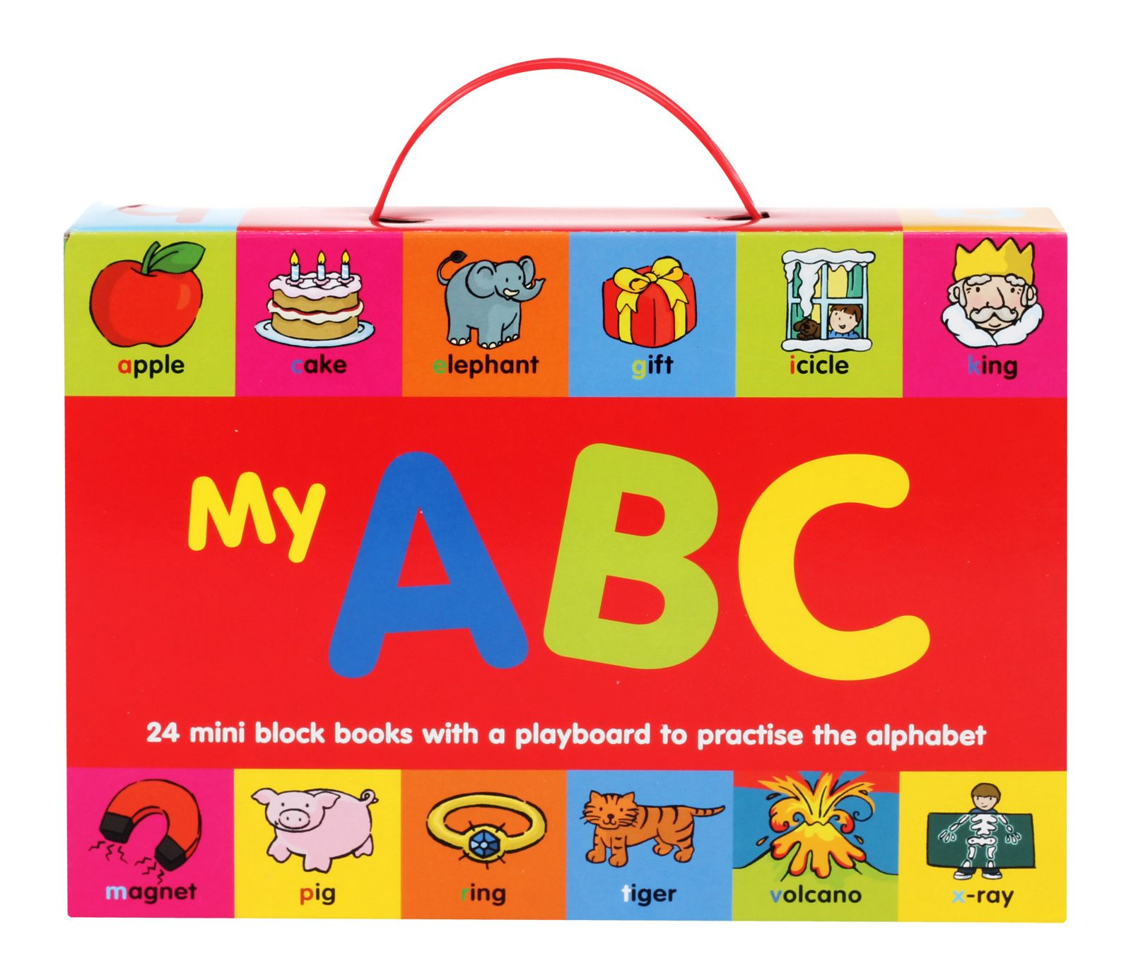 My Abc 24 Mini Block Books With A Play Board To Practice