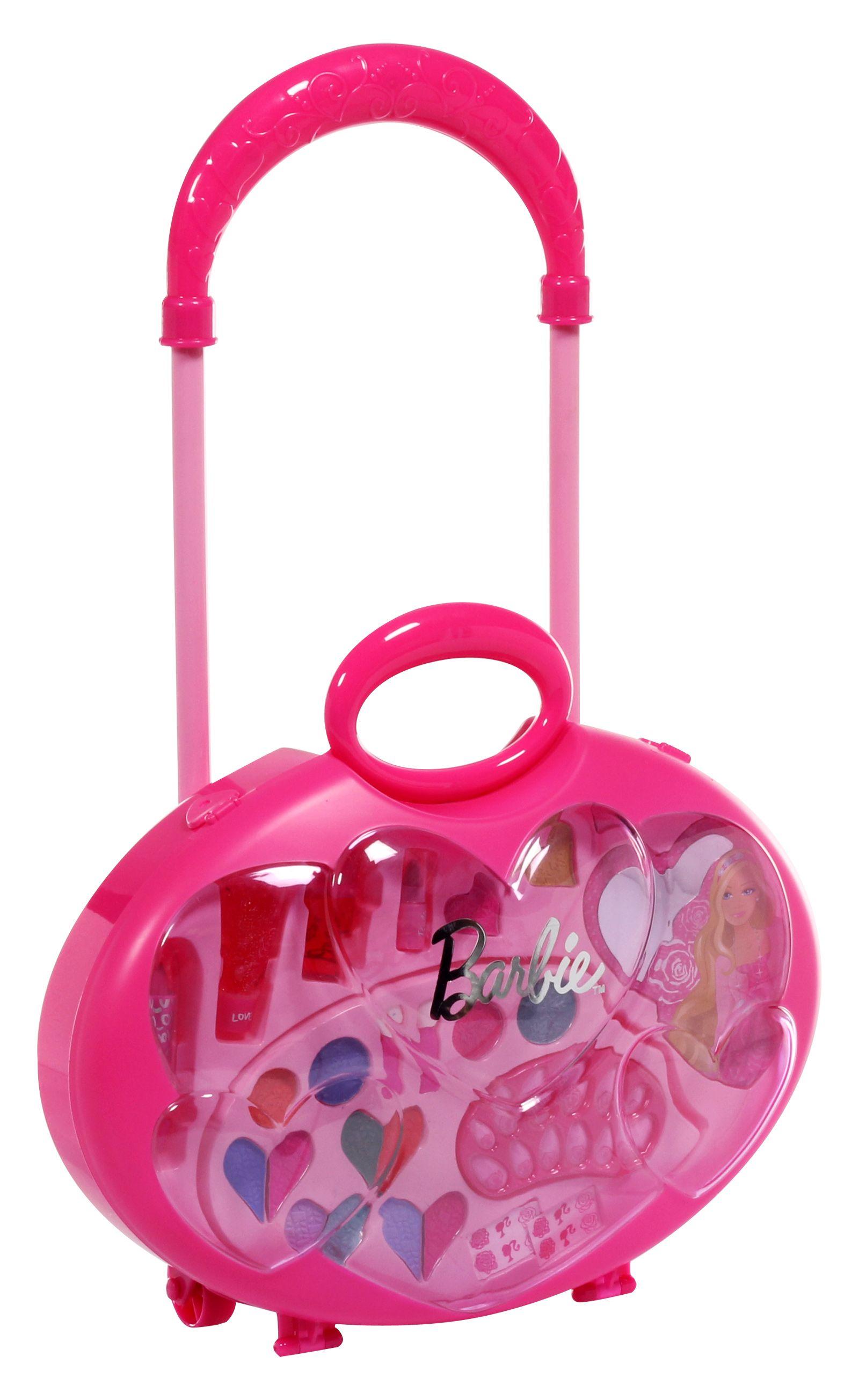 BARBIE Beauty Train CASE! Makeup! Nail Polish! Shimmer ...  |Barbie Makeup Kit For Kids