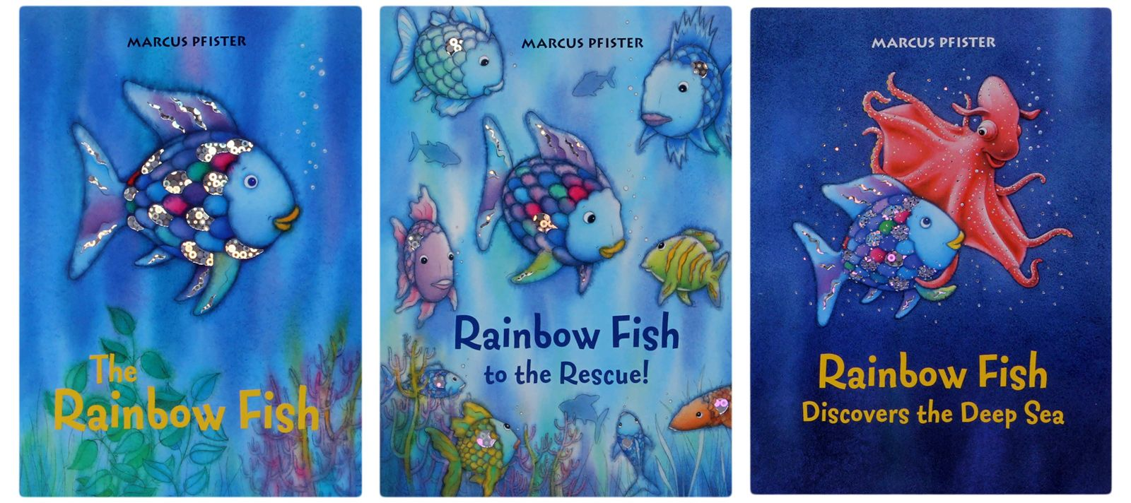 Rainbow fish book pages for Fishpond books