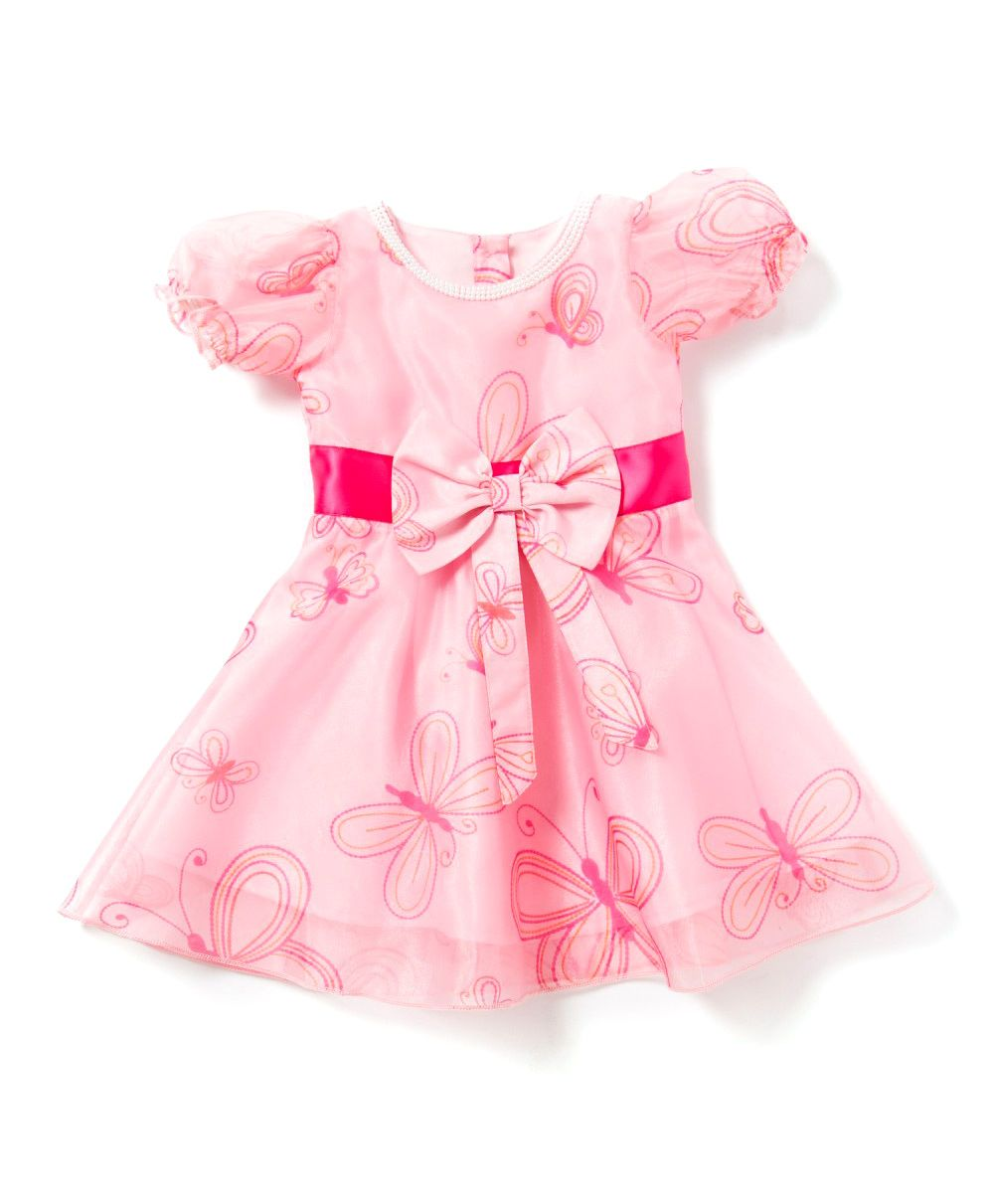 Buy 2 Get 1 Free Entire Fashion Range For Kids By Firstcry | Chicabelle Baby Girls Dress With Matching Bloomer Set - Pink @ Rs.960