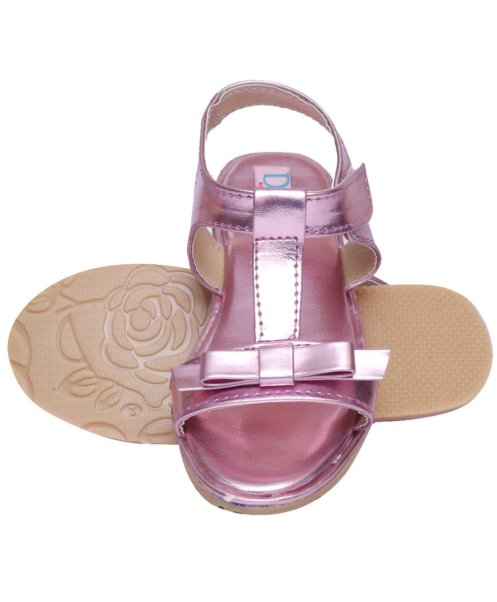 BABY & KIDS SHOES, SANDALS, BOOTIES By Flirstcry | D'chica Chicness In Her Feet Sandals - Pink @ Rs.399