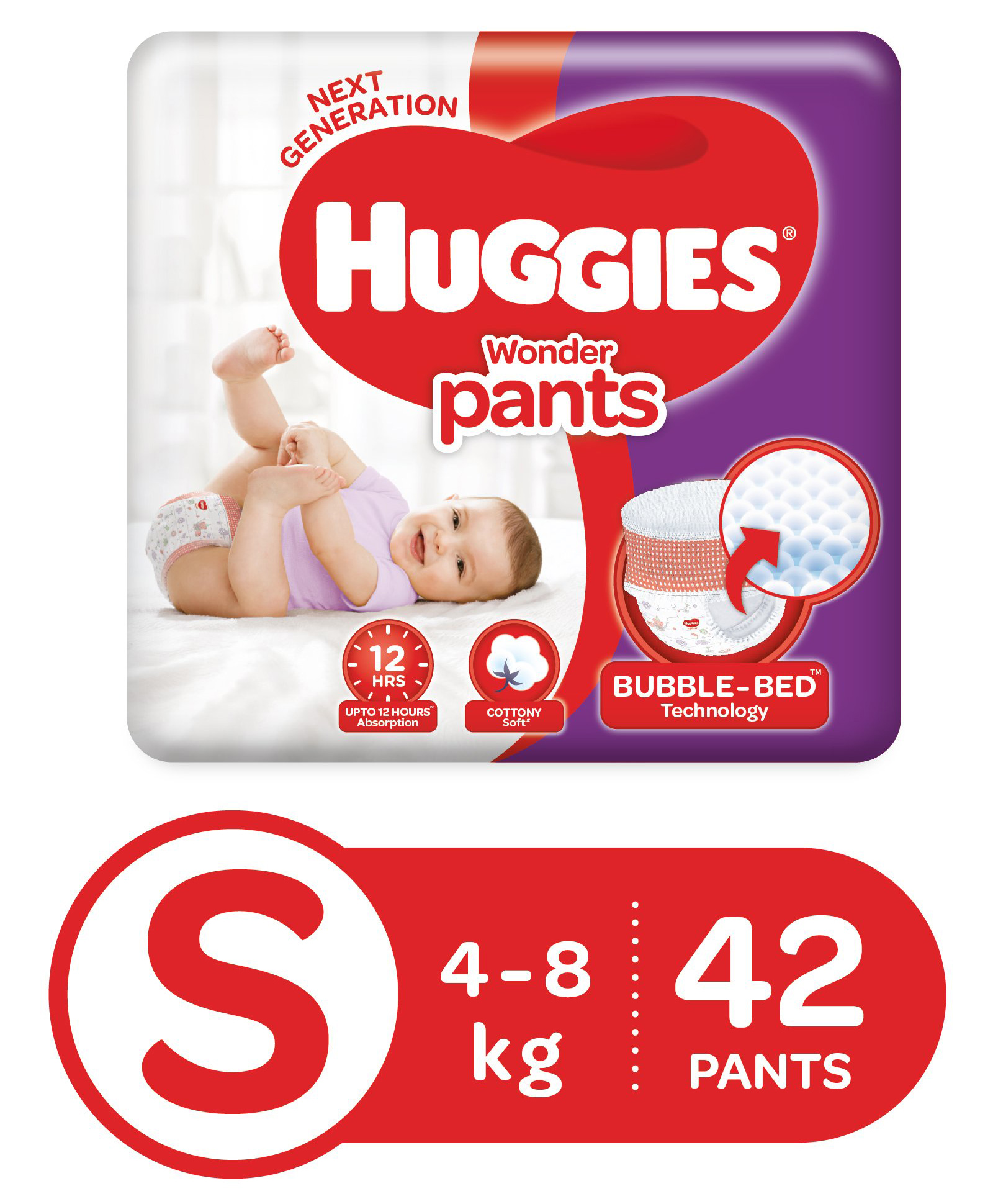 Extra 5% Off on All Diapers By FirstCry | Huggies Wonder Pants Small Pant Style Diapers - 42 Pieces @ Rs.318.25