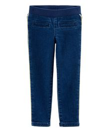 Carter's Pull-On Skinny Stretch Knit Denim Pants - Dark Blue