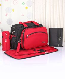 Babyhug Duet Diaper Bag - Black & Red