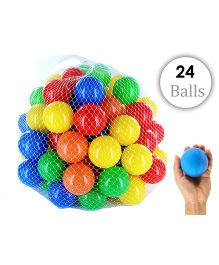 Eevovee Plastic Play Balls Pack of 24 - Multicolour