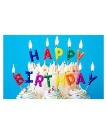 Party Propz Happy Birthday Candle Set Multicolour