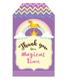 Party Propz Unicorn Thank You Tag Purple - Pack of 12