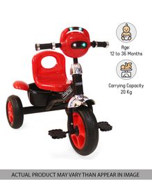 Babyhug Paramount Tricycle With Light & Music - Red