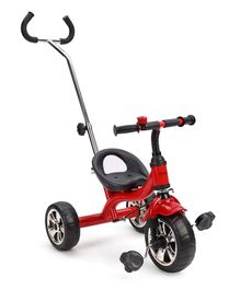 Babyhug Pluto Metal Tricycle With Parent Push Handle - Red