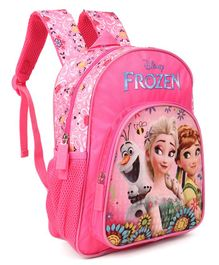 Disney Frozen Floral School Bag Pink - Height 12 Inches