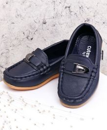 Cute Walk by Babyhug Party Wear Loafer Shoes - Blue